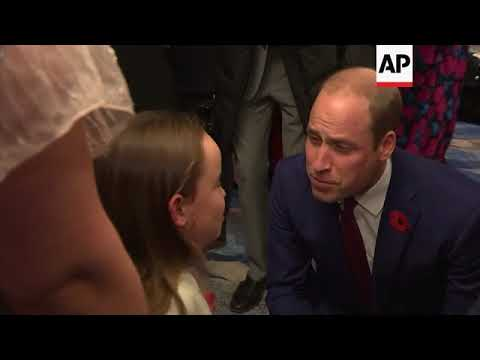 Duke of Cambridge attends Pride of Britain awards thumbnail