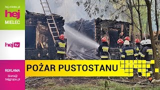 hej.mielec.pl TV: Pożar pustostanu w lesie na terenie Mielca
