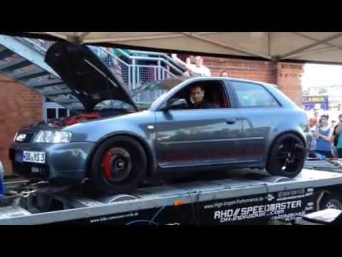Audi S3 r30 Turbo Auf den Prüfstand 1bar Ladedruck 557Ps und 639nm