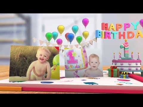 After Effects 2018 - My First Year-Baby Photo Album - After Effects CC 2018 Project
