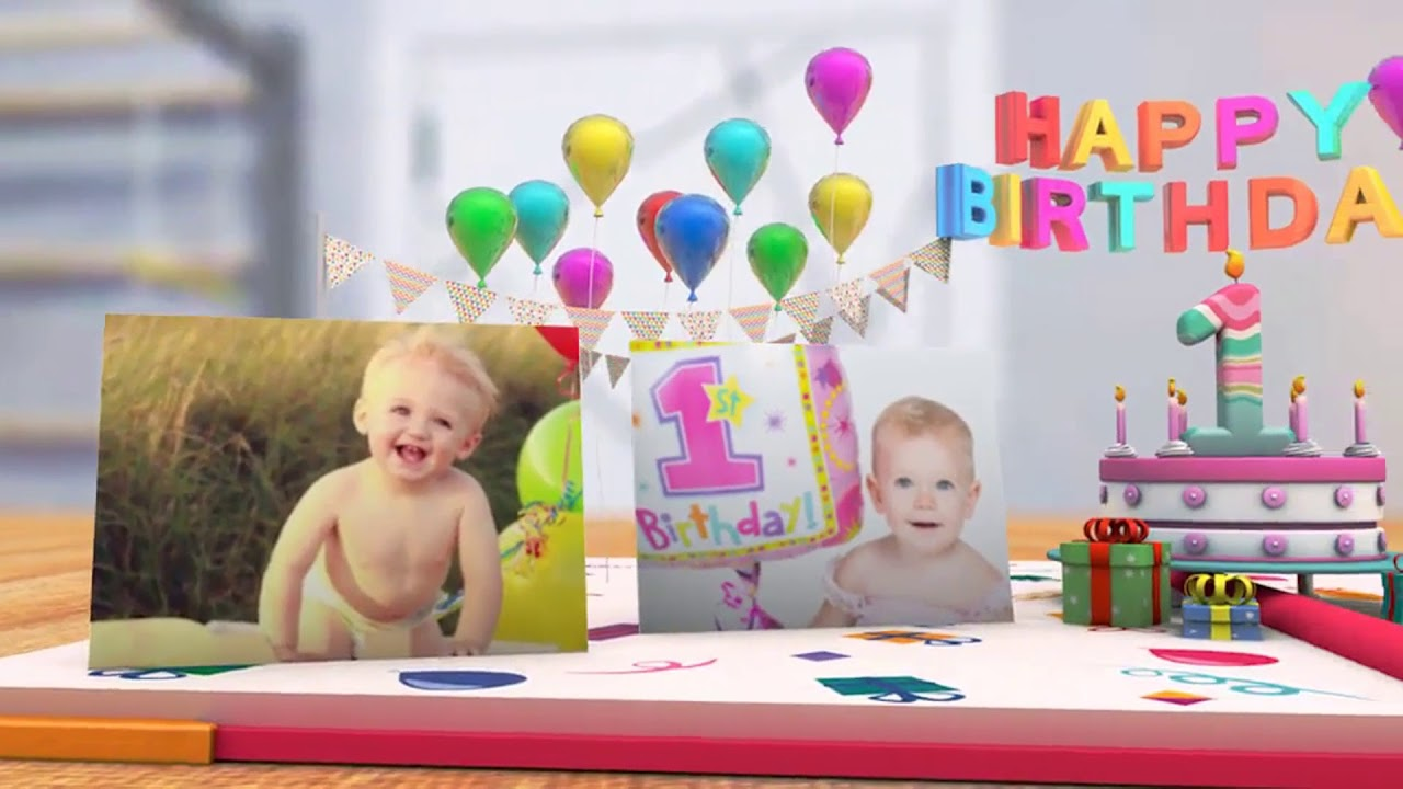 After Effects 2018 My First Year Baby Photo Album After Effects