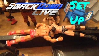 WWE action figure set up - Smackdown Edition