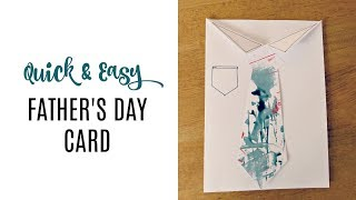 QUICK & EASY FATHER'S DAY CARD