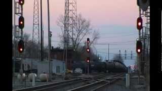 Fostoria Ohio Trains Pt 1 - 11/3/2012