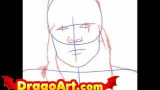 How to draw Axl Rose, step by step