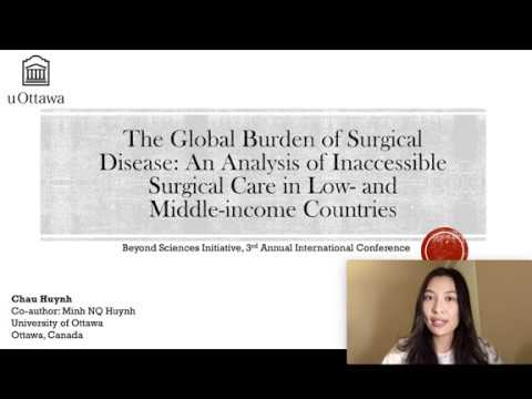 The Global Burden of Surgical Disease | Chau Huynh