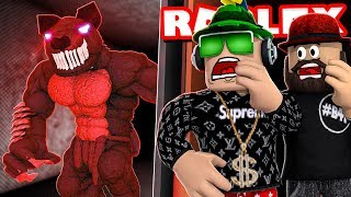 STAYING FOR A NIGHT AT THE HORROR HOTEL!!! ROBLOX CAMPING 3