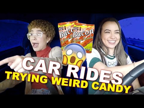 Car Rides - Trying Weird Candy with Carol - Merrell Twins