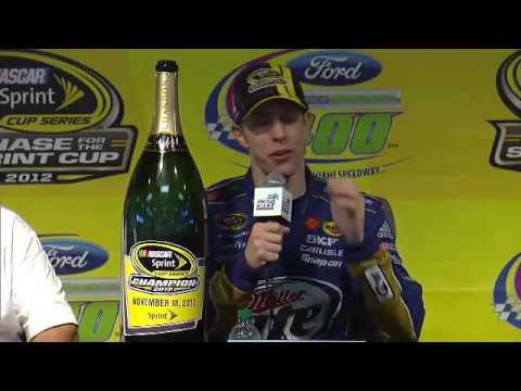 NASCAR champ Brad Keselowski tells a story