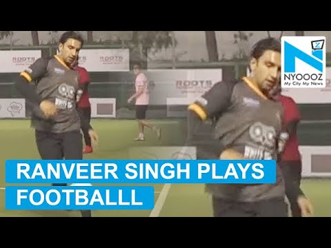 Ranveer Singh Clicks Selfies With  On Football Ground  NYOOOZ TV