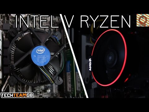 Ryzen Spire vs Intel Stock Cooler | AMD 1700 & Intel i7-7700