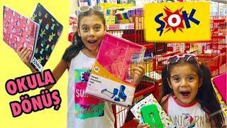 OKULA DÖNÜŞ 2019 | ŞOK Okul Kırtasiye Alışverişi | Back To School - Eğlenceli Çocuk Videosu Sevimli