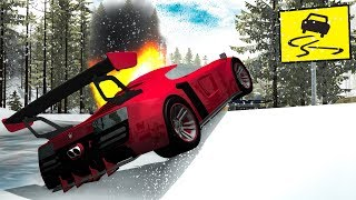 Slippery Road Crashes #4 - Beamng drive