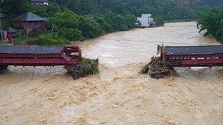 """فيديو.. سقوط 10 قتلى بسبب إعصار """"ميرانتي"""" في الصين"""