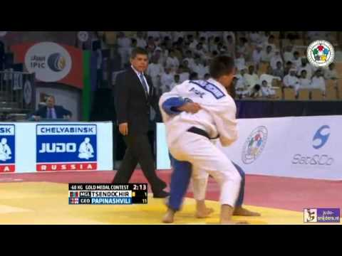 Judo 2015 Grand Slam Abu Dhabi: Stend-Ochir (MGL) - Papinashvili (GEO) [-60kg] final