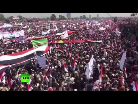 Yemen: 100,000 strong rally in support of Houthis