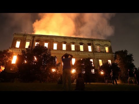 Fire at Brazil's National Museum engulfs 200-year-old building