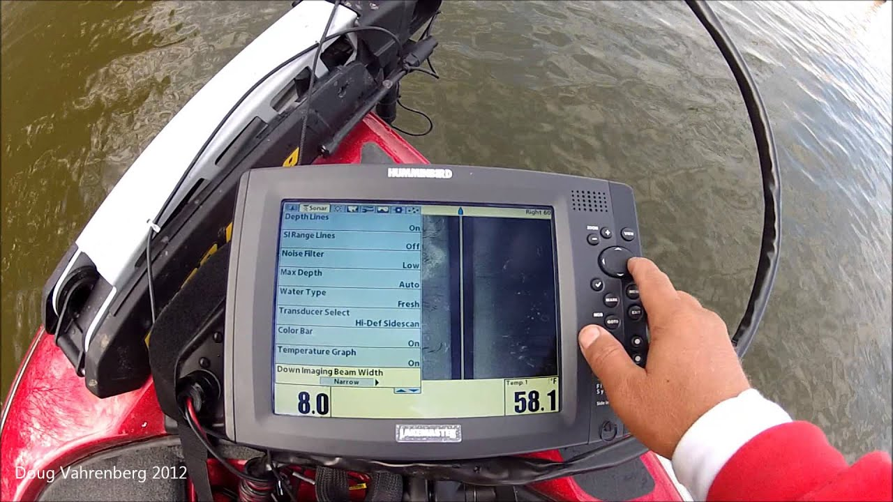 tips 'n tricks 59: humminbird side imaging on the trolling motor, Fish Finder
