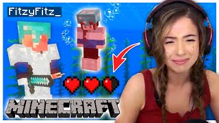 We made a HUGE MISTAKE in Minecraft! Fitz and Pokimane Part 5!
