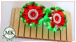Резинки для волос со складочками по шаблону. Канзаши. МК. / DIY. Kanzashi. Hair bands with pleats