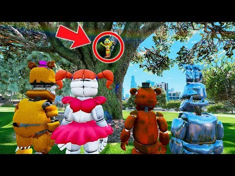 HELP! ADVENTURE TOY CHICA IS STUCK IN A TREE! (GTA 5 Mods For Kids FNAF RedHatter)