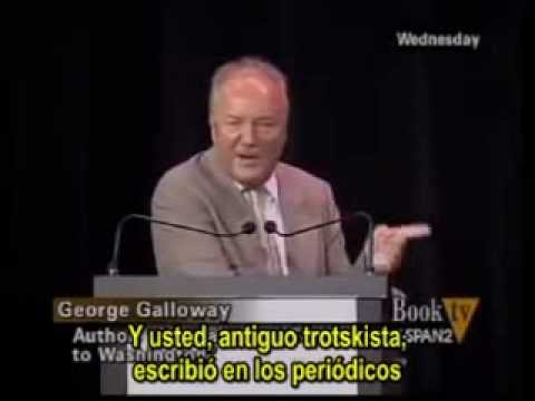 Christopher Hitchens can't answer George Galloway's point!