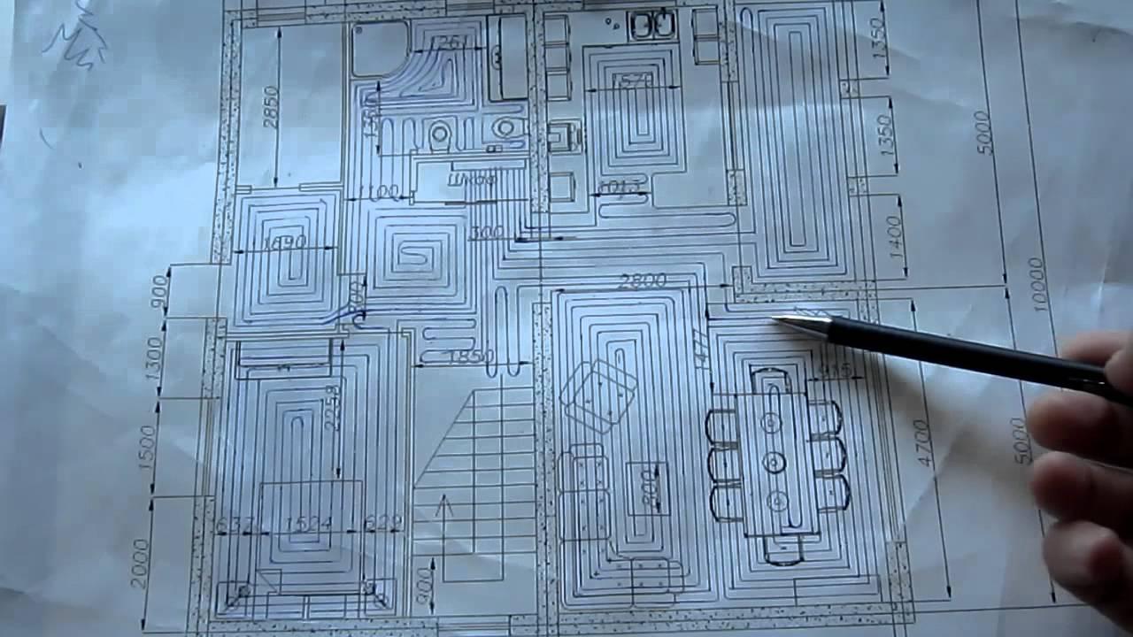 Как сделать схему укладки теплого пола?