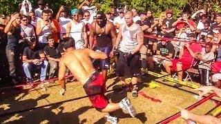 Muay Thai Legend vs Street Fighter Bare Knuckle Brawl - Unexpected KO?