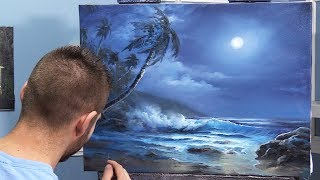 Bright Moonlit Ocean | Paint with Kevin ®