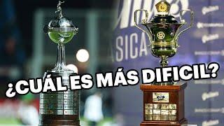 ¿Qué es más dificil de ganar, torneo argentino o Copa Libertadores?