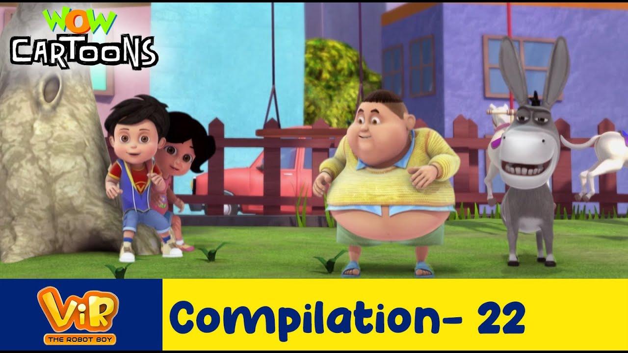 Vir the robot boy   Action Cartoon Video   New Compilation - 22  Kids Cartoons   Wow Cartoons