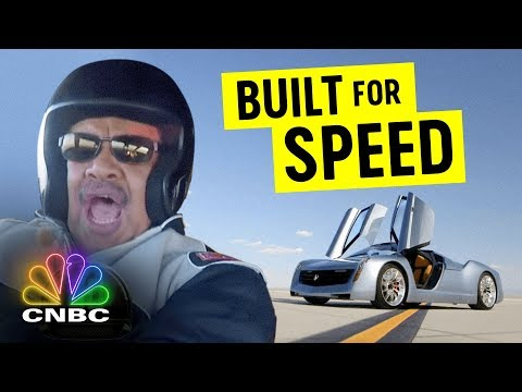 Neil DeGrasse Tyson Takes A Ride In Jay's Jet Engine-Powered Car | Jay Leno's Garage | CNBC Prime