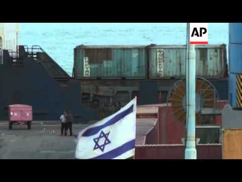 Weapons-laden ship bound for Gaza and captured by Israeli commandoes arrives in port