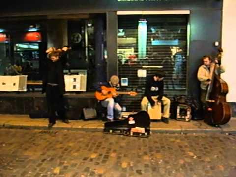 Straßenmusiker in Dublin