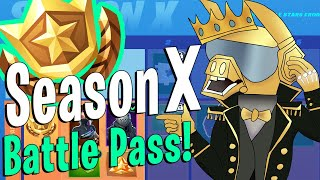 Fortnite Season X BATTLE PASS Unlocked! ALL Rewards Shown!