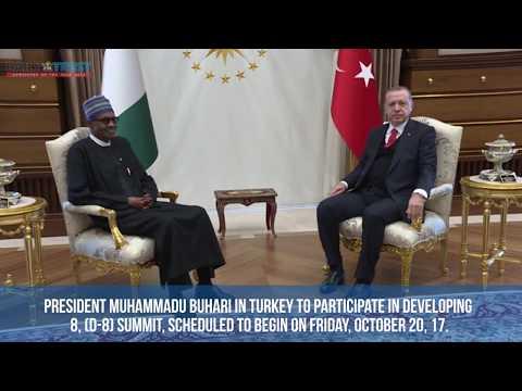 Buhari meets Erdoğan at Turkey's Presidential Complex