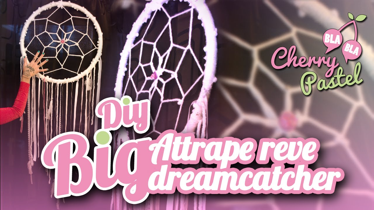 diy big attrape reve tuto dreamcatcher fr youtube. Black Bedroom Furniture Sets. Home Design Ideas