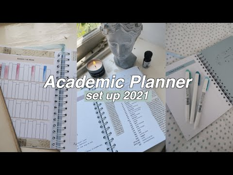 setting up my planner for back to school (I designed a planner!!)