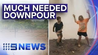 QLD drought regions receive much needed rain | Nine News Australia