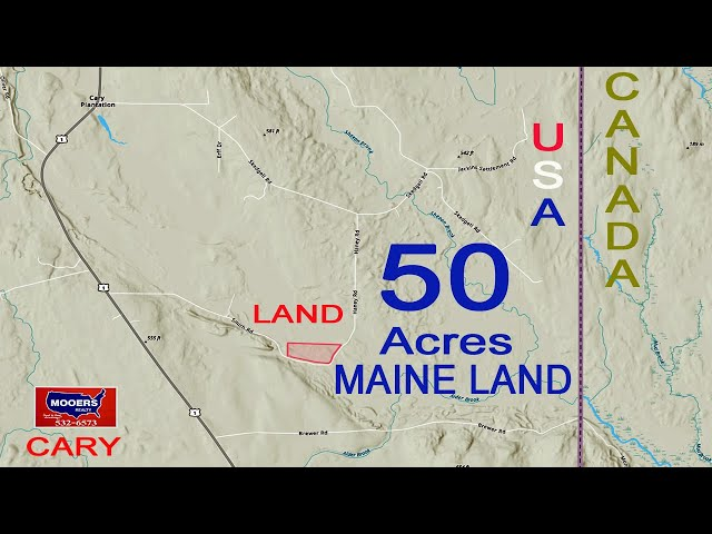 Off Grid Land In Maine For Sale | Cary ME 50 Acres Real Estate Video MOOERS REALTY 8999