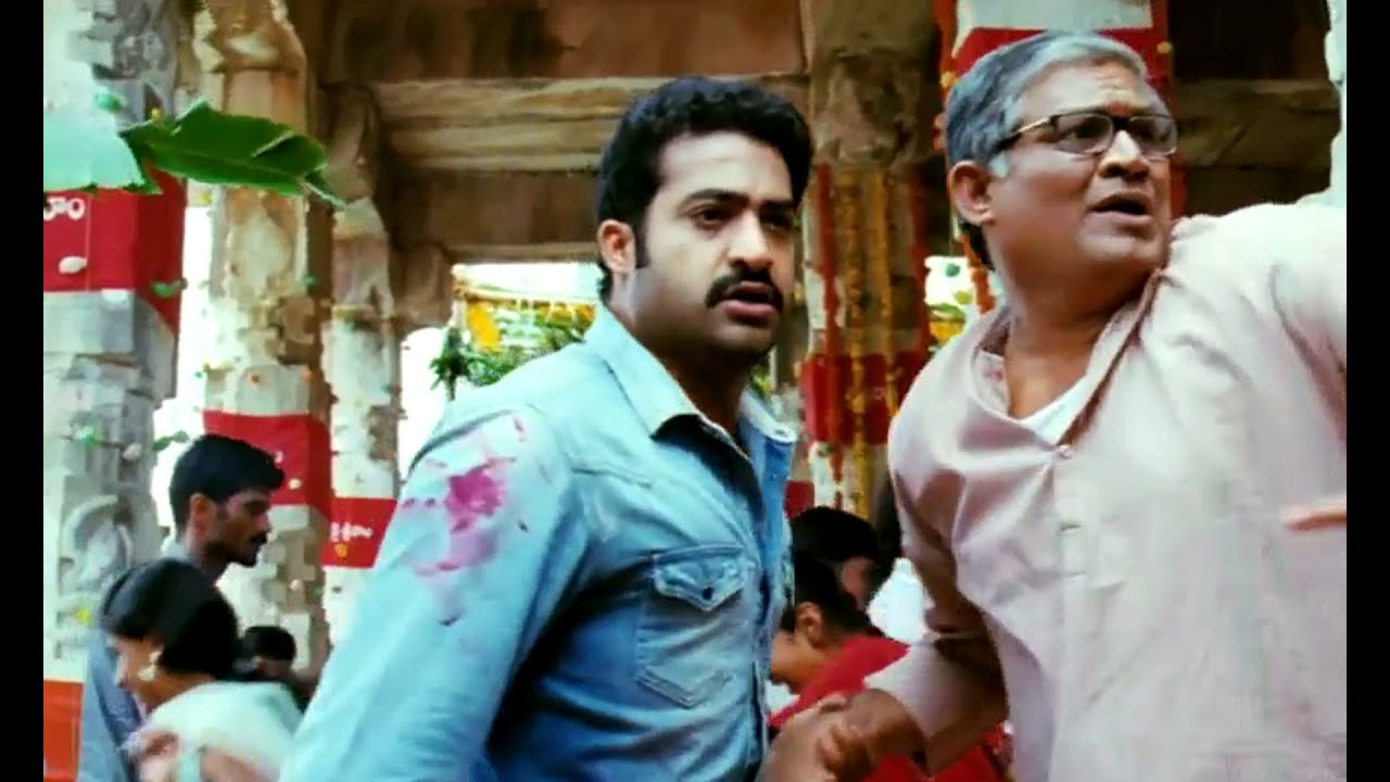 ramayya vasthavayya telugu movie scenes - ntr temple fight - shruti