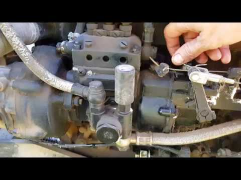 How to change injector pump oil on a Chinese tractor