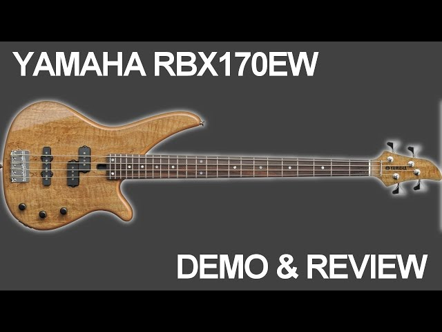 Yamaha RBX170EW Bass Guitar Demo and Review