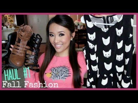 Fall Fashion Haul! Sweaters, Jackets, Dresses, Boyfriend Jeans + Cats O_O - hollyannaeree