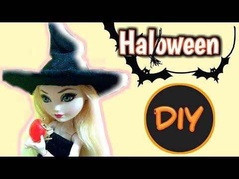 ????Halloween! Как сделать костюм ведьмы для кукол|????Декор комнаты для кукол||Мастер-класс!????