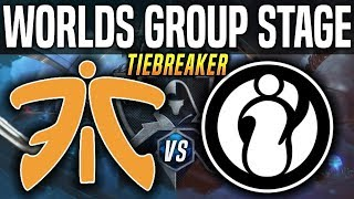 FNC vs IG *TIEBREAKER* Worlds 2018 Group Stage Day 8 - Fnatic vs Invictus Gaming - Worlds 2018