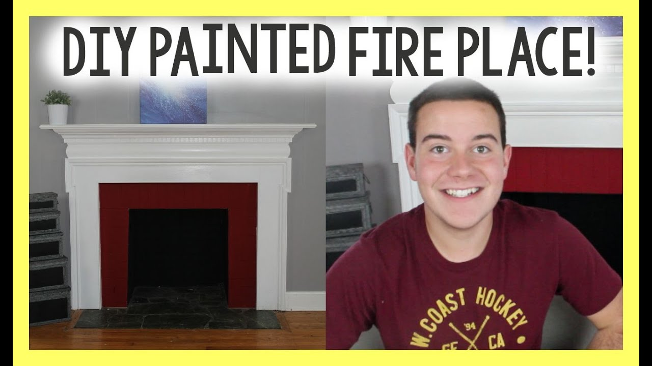 DIY Painted Fire Place - Chalky FInish Paint DIY - Home ...