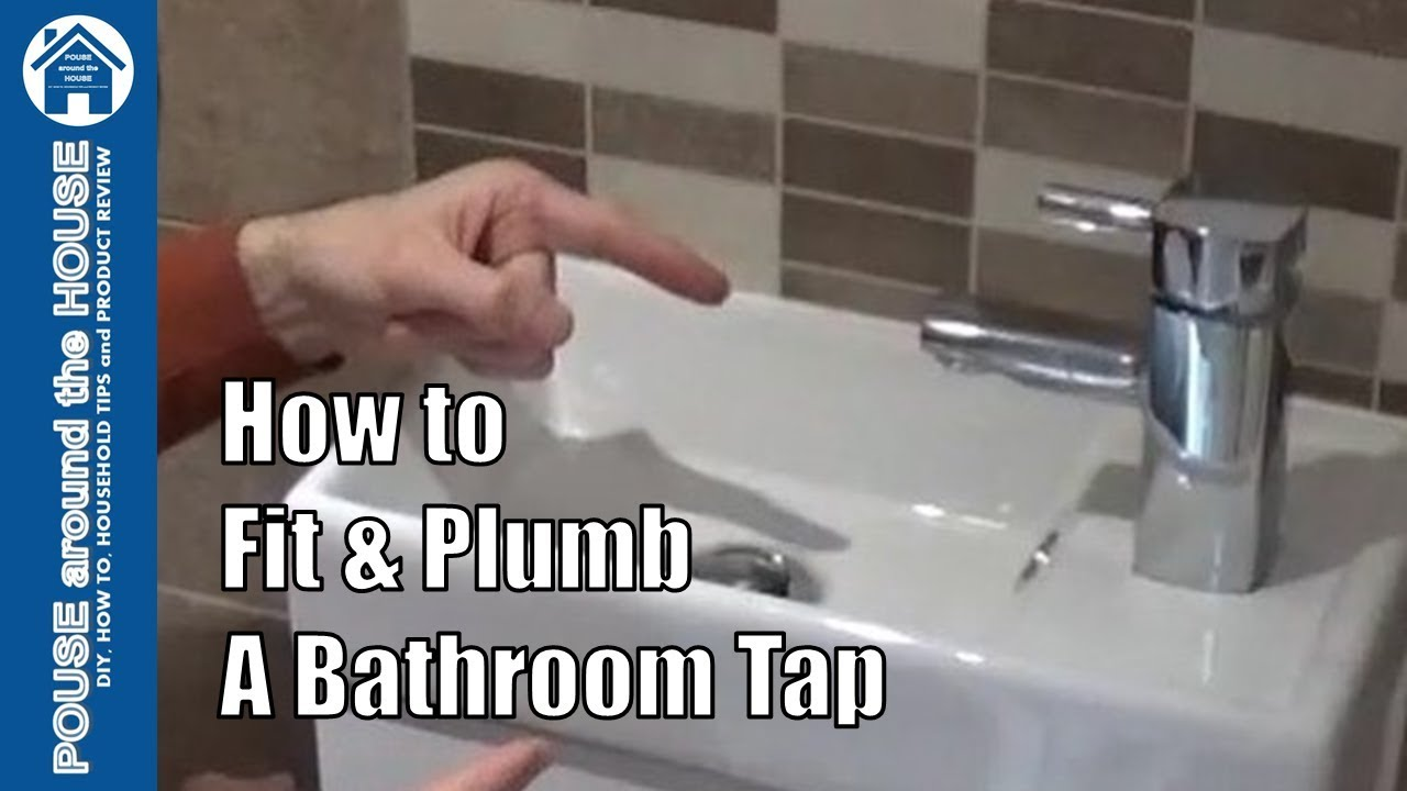 How to fit a bathroom tap. Bathroom tap install - connect tap to ...