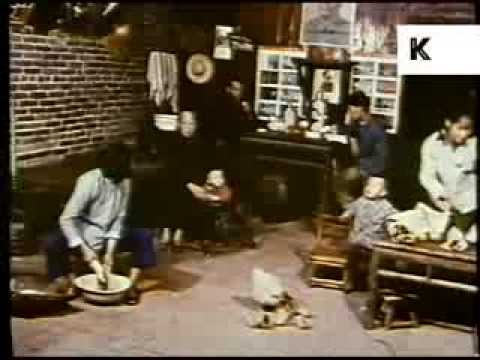 Early 1970s China - Family Life in a Rural Commune, Shopping, Work, Farming, Cooking