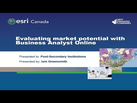 Evaluating market potential with Business Analyst Online